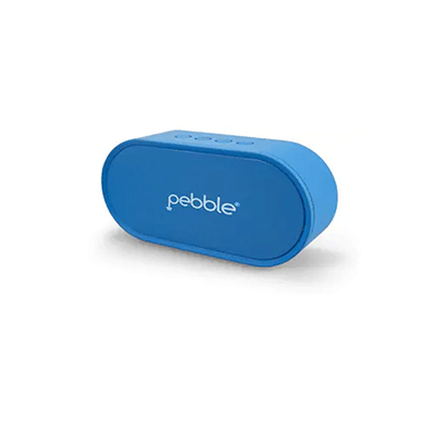pebble 6w bassx prime wireless bluetooth speaker (blue)