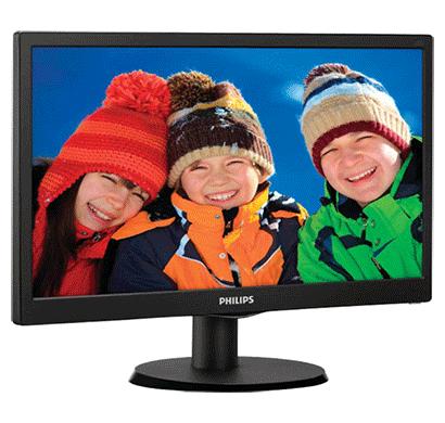 philips 193v5lhsb2 18.5 inch led backlit lcd monitor black