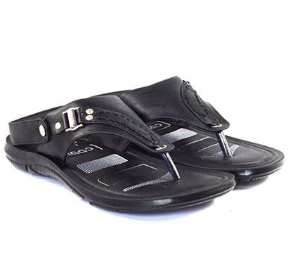 pokrok men pu casual sandals (dabloo10) black, brown
