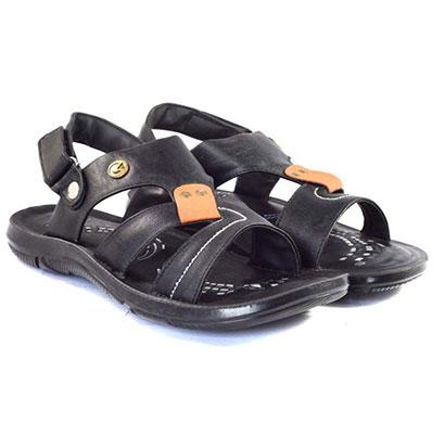 pokrok men pu casual sandals (dabloo12-black)