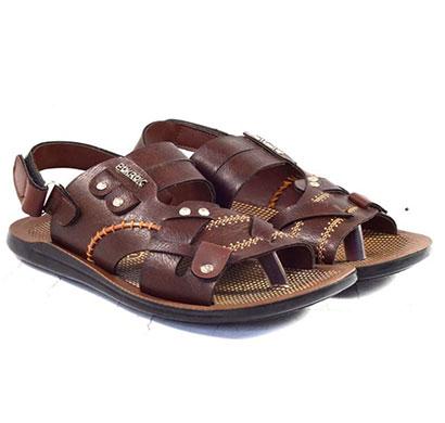 pokrok men pu casual sandals (groomy2) tan, brown, black