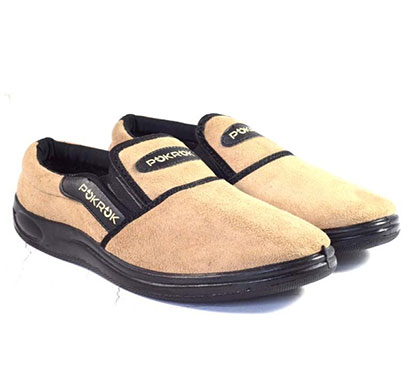 pokrok men pu extracomforting shoes (haapus) cream, brown