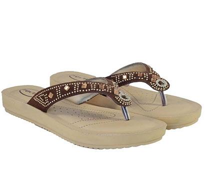 pokrok women pu stylish slippers (feps1) brown, black, red