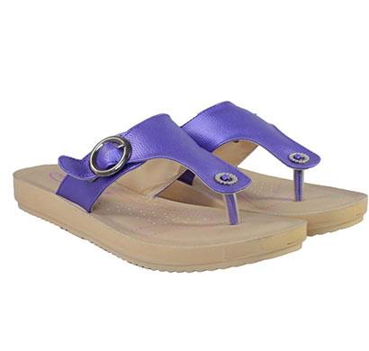 pokrok women pu stylish slippers (feps3) white, golden, skyblue, navyblue
