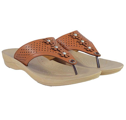 pokrok women pu stylish slippers (zoos4) brown, tan, beige, red, black