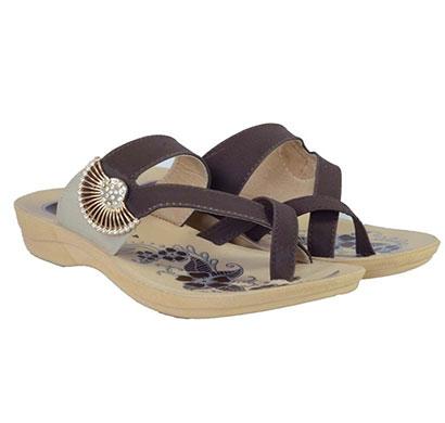 pokrok women pu stylish slippers (zoos5) brown, black, pink