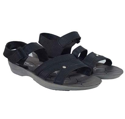 pokrok women pu stylish sandal (zoos6) black, ten