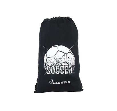 polestar drawstring soccer bag (black)