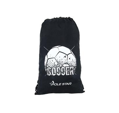 polestar drawstring soccer bag (black)
