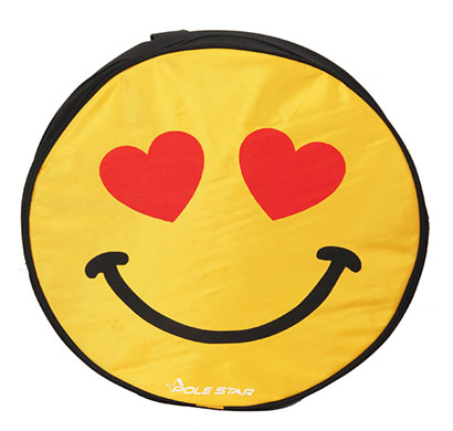 polestar - smiley_love (black) school bag