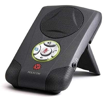 polycom communicator c100s usb speakerphone for skype-grey