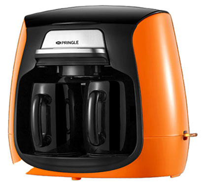 pringle cm2100 coffee maker with nylon filter 2 cups orange