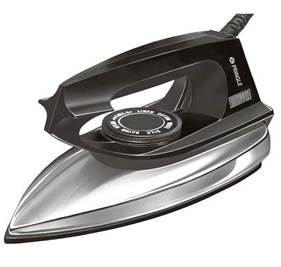 pringle di-1100 dry iron 750 watt dry iron black silver