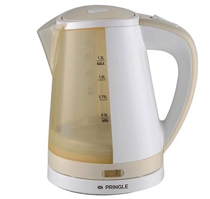 pringle ek601 electric kettle 1.2 ltr silver