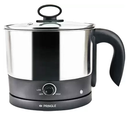 pringle ek 605 electric kettle 1.2 ltr black