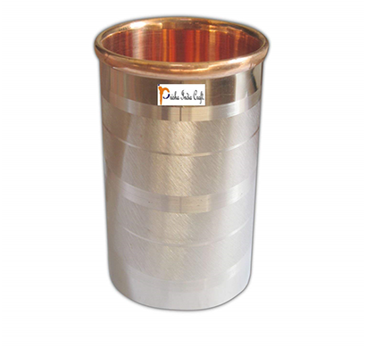 prisha india craft glass001-1 pure copper glass cup for water/ capacity 250 ml