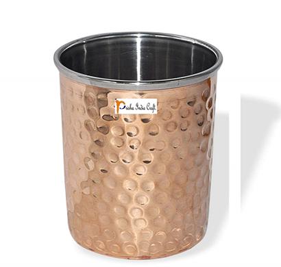 prisha india craft glass020-1 handmade water glass copper tumbler/ capacity 250 ml