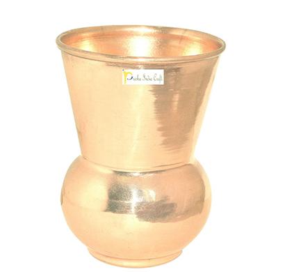 prisha india craft glass023-1 copper muglai matka glass drinkware tumbler/ capacity 350 ml