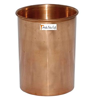 prisha india craft glass029-1 drinking copper glass tumbler handmade water glasses/ capacity 200 ml