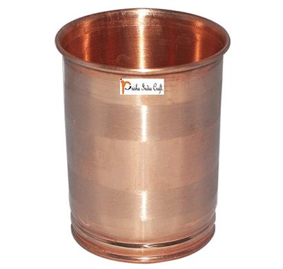prisha india craft glass027-1 drinking copper glass tumbler handmade water glasses/ capacity 250 ml