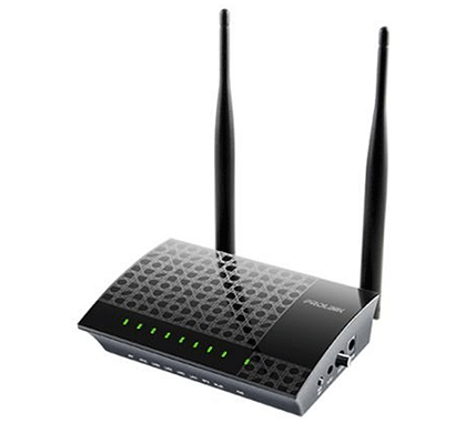 prolink prs1240 adsl2+ router 300mbps with wifi antenna and modem (black)