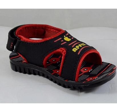pu hills 5 to 10 size kids sandal black red