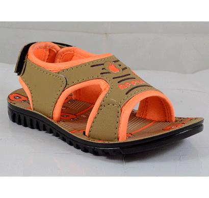 pu hills 5 to 10 kids sandal tan orange