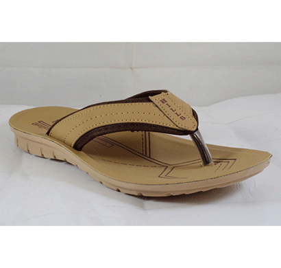 pu hills 7 to 10 size v - shape slipper tan brown