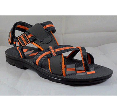 pu hills 6 to 9 men sandal grey orange