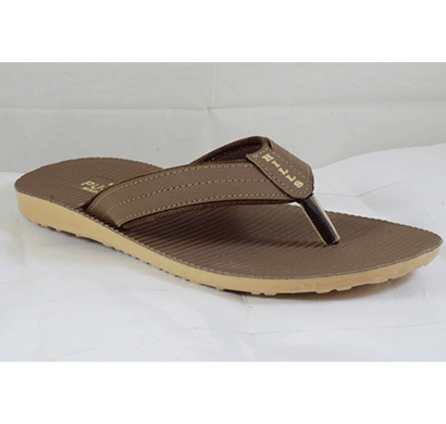 pu hills 7 to 10 size v - shape slipper brown