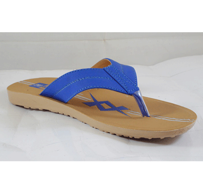 pu hills 7 to 10 size v - shape slipper blue