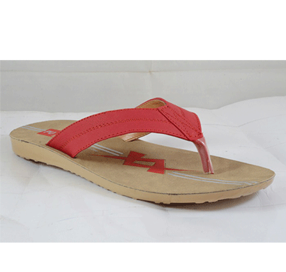 pu hills 7 to 10 size v - shape men slipper red