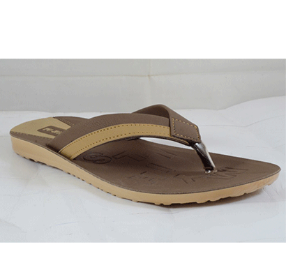pu hills 7 to 10 size v - shape slipper brown tan