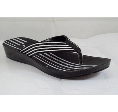 pu hills 5 to 10 size v - shape slipper black white