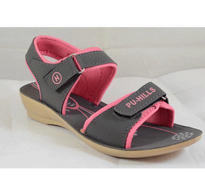 pu hills 5 to 8 size pink pu heel sandal grey pink