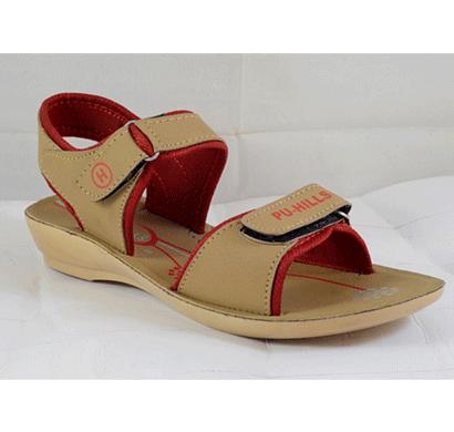 pu hills 5 to 8 size pink pu heel sandal tan red