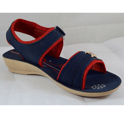 pu hills 5 to 8 women sandal blue red