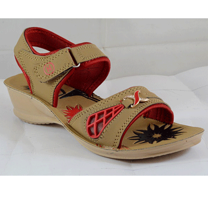 pu hills size 5 to 8 women sandal tan red