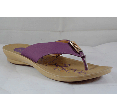 pu hills 5 to 8 size v - shape women slipper purple