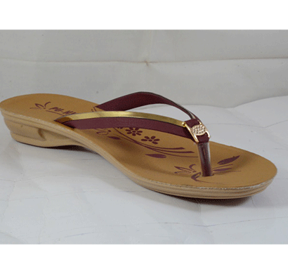 pu hills 5 to 8 size v - shape women slipper rexion patti brown