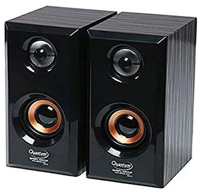 quantum qhm636 portable wooden speaker (black)