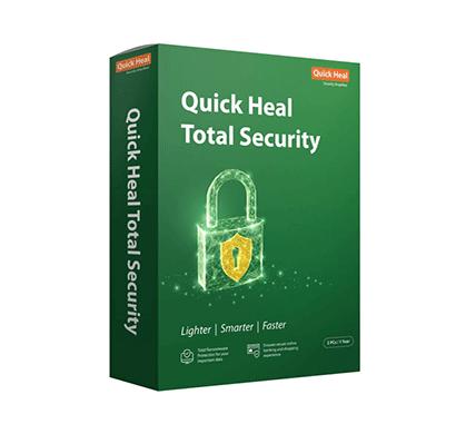 quick heal antivirus total security regular - 2 pc, 1 year (cd-dvd)