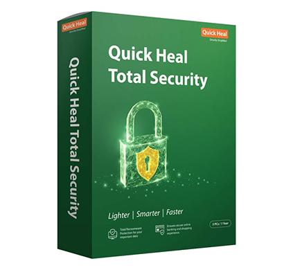 quick heal antivirus total security regular - 3 pc, 1 year (cd-dvd)