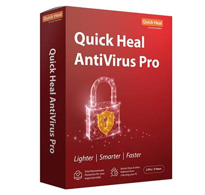 quick heal antivirus pro latest version - 2 pc, 3 years (cd-dvd)