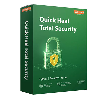 quick heal total security regular 1 pc, 1 year (cd/dvd)