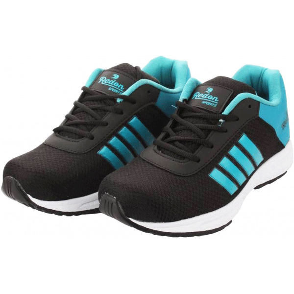 Redon Men's Sports Shoes/ Athletic Shoes/ Stylish Sports Running Shoes (Black Blue)