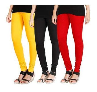 ritzzy women's cotton lycra leggings combo offer for women (multi color)