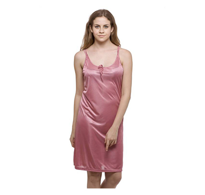 ritzzy satin lycra round neck women casual nighty multi color