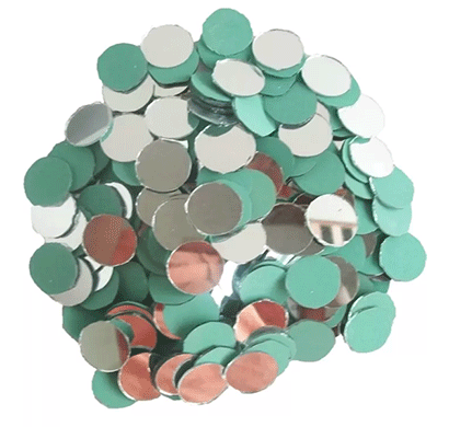 round shape mirror beads for art and craft and also used in embroidery (round shape 14 mm)