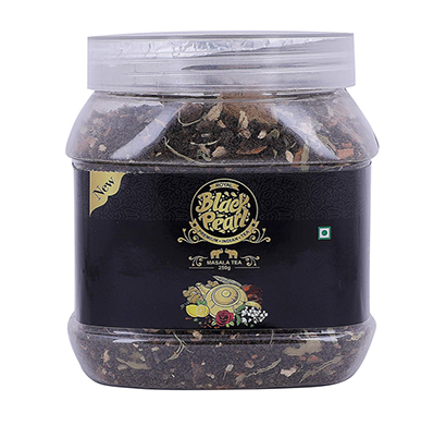 royal black pearl assam masala chai spices herbes - 250 gm